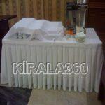 Beyaz Örtülü Dikdörtgen Masa kiralama